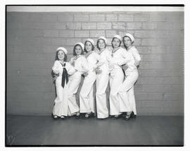 Six tap dancers in sailor costumes