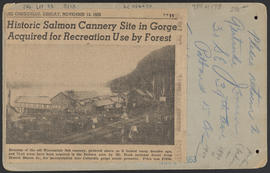 "Verso of ""D145. Warrendale Salmon Fishery, Columbia River scenery, W.T."""