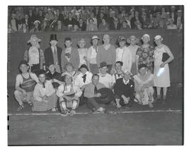 Members of East Side Commercial Club in costume