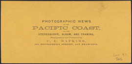 "Verso of, ""Car House at the Cascades, Columbia River."" (Stereograph 1254)"