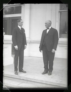 Ben W. Olcott and Walter M. Pierce at Oregon State Capitol