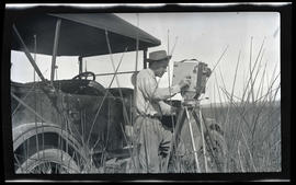 William Finley with a camera