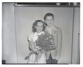Kathryn York and Frank Tarsia, 1947 Junior Rose Festival royalty