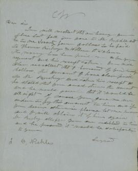 Copy of letter to J.B. Nichols