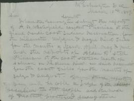 Partial copy of letter regarding A.B. Westerfield