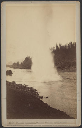 """D159. Clearing the Channel, Cascades, Columbia River, Oregon."""