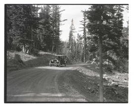 Oregon Journal car on Cloud Cap Road, Mount Hood
