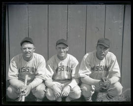McQuaide, Mulligan, and Huffs, baseball players for Mission