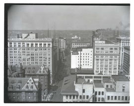 View of downtown Portland from top of Public Service Building