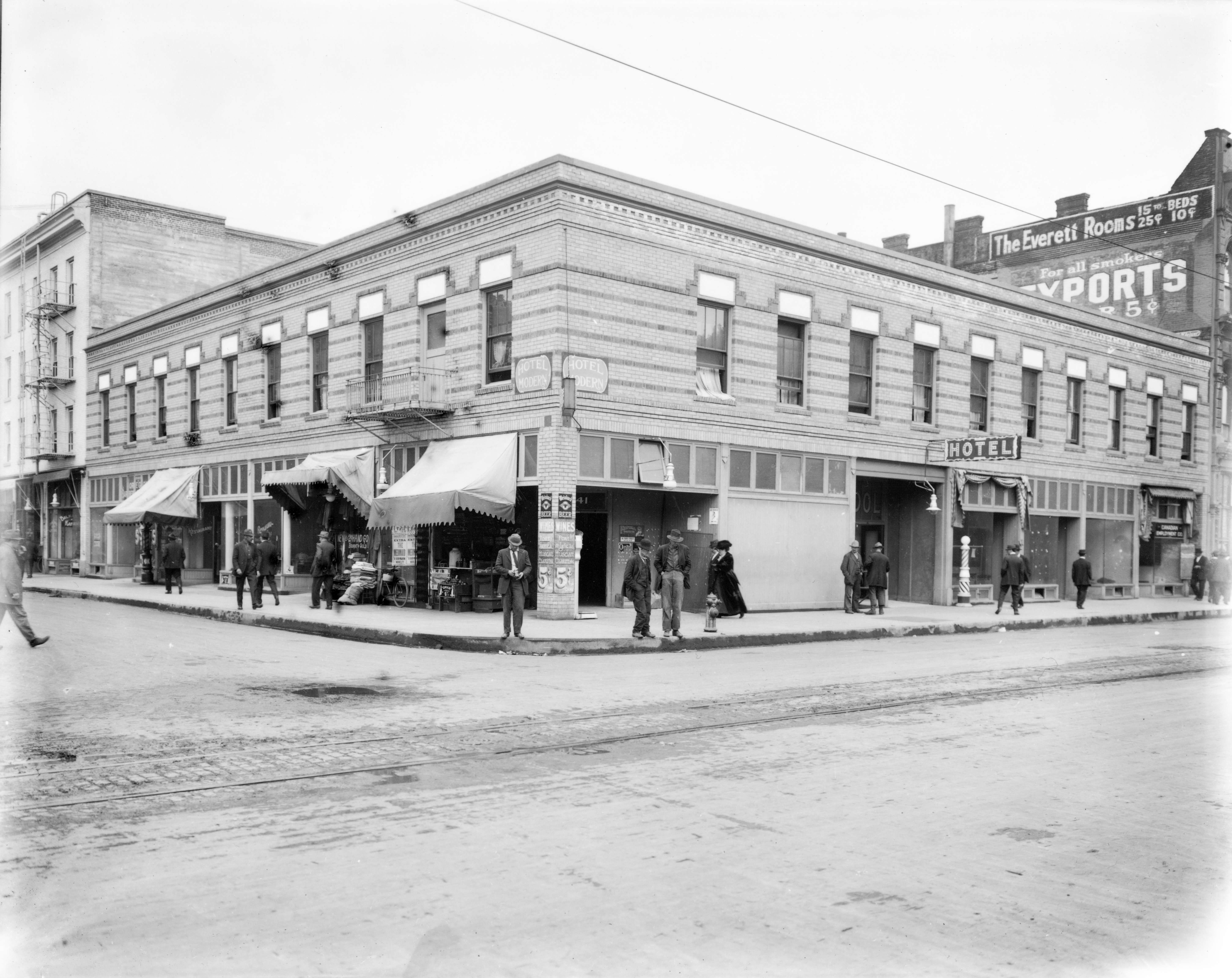 Parkhurst Hotel building, 2nd and Couch, Portland, 1914 - OHS ...