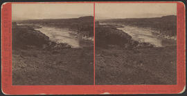 """Mt. Hood from the Dalles, Col. River Scenery, Oregon."" (Stereograph E25)"