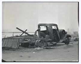Destroyed truck