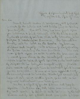 Copy of letter to Benjamin Wright, Special Sub Agent, Port Oxford