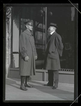 Colonel R. B. Lister and unidentified man in Portland