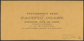 "Verso of, ""Panorama of Portland and the Willamette River, Oregon. No. 6.""  (Stereograph 1206)"