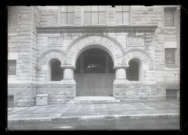Entrance to First Baptist Church, 12th and Taylor, Portland