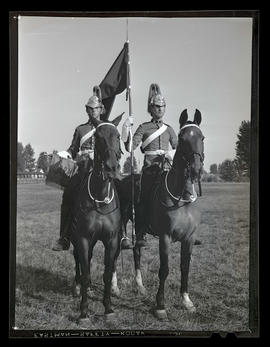 Mounted soldiers from Lord Strathcona's Horse regiment