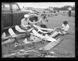 Model airplane competition at McMinnville airport