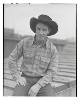 Ward Watkins, three-quarters portrait, probably at Pacific International Livestock Exposition