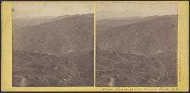 """New Road from Mine Peak"" New Almaden, Calif. (Stereograph 140)"