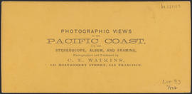 "Verso of, ""View on the Columbia River from the O.R.R. Cascades."" (Stereograph 1293)"