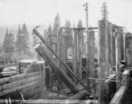 Forestry Building under construction, Lewis and Clark Centennial Exposition, 1905