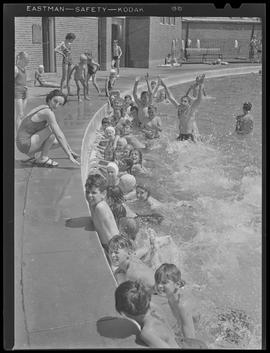 Children swimming in Sellwood Park