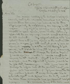 Copy of letter regarding the appointment of an Indian agent