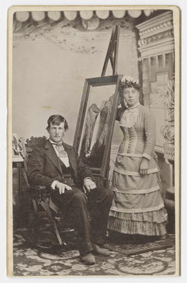 C. L. Winter portrait of an unidentified man and woman
