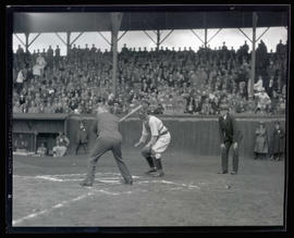 Ceremonial at-bat at Vaughn Street Park