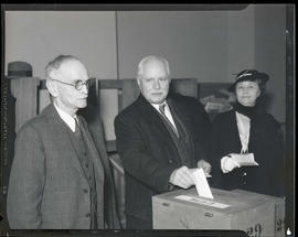 Charles H. Martin and Louise H. Martin casting ballots?
