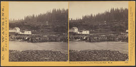 """Panorama of Oregon City and the Willamette Falls. No.3"" (Stereograph 1216)"