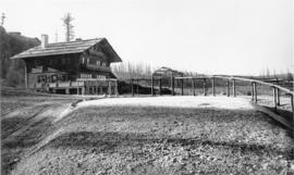 Belton Hotel and Great Northern Depot, Glacier Park, Montana, 1912
