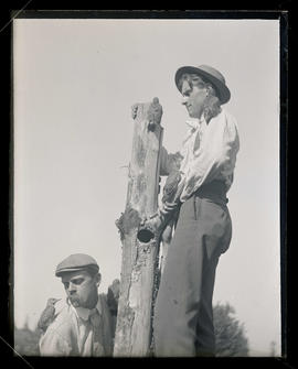 Bohlman and Finley Photographing Flickers