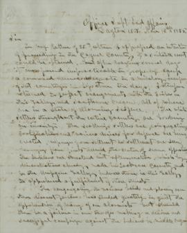 Draft of letter from Joel Palmer to George Manypenny