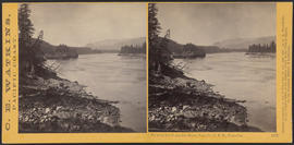 """View on the Columbia River, from the O.R.R., Cascades."" (Stereograph 1285)"