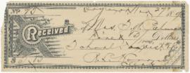 Receipt, to Sarah Anne Palmer