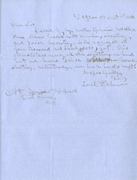 Copy of letter to Capt. James