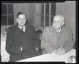 Dr. Luther and unidentified man