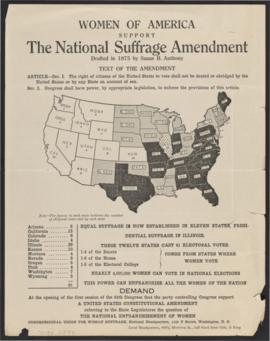 Women of America Support the National Suffrage Amendment