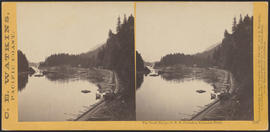 """The Tooth Bridge, O.R.R. Cascades, Columbia River."" (Stereograph 1299)"