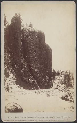 """D121. Bridal Veil Bluffs--Winter of 1884-5--Columbia River, Or."""