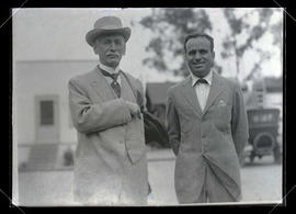 Photograph of C. S. Jackson and Douglas Fairbanks