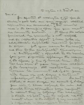 Copy of letter to L.M. Jamisen