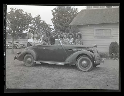 People posing with car, possibly at county fair - OHS Digital ...