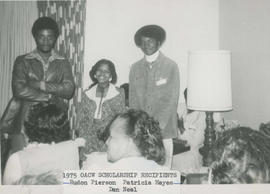 Oregon Association of Colored Women's Clubs scholarship recipients, 1975