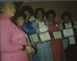 Oregon Association of Colored Women's Clubs, Annual club women of the year awards, Portland, c.1985.