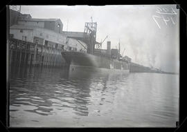 Steamship Monadnock moored at Crown Mills dock in Portland