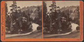 """Cascade between the Vernal and Nevada Falls, Yosemite Valley, Mariposa County, Cal."" (..."