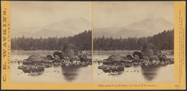 """View on the Columbia River, from the O.R.R., Cascades."" (Stereograph 1289)"